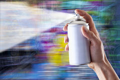 Graffiti Spray Paint Background Royalty Free Stock Photos