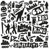 Graffiti ,spray paint doodles Royalty Free Stock Photo