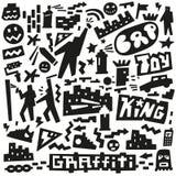 Graffiti ,spray paint doodles Royalty Free Stock Photo
