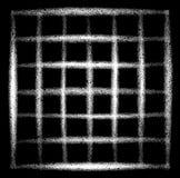 Graffiti spruzzati di lerciume di griglia nel bianco sopra il nero Fotografia Stock Libera da Diritti