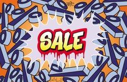 graffiti sprzedaż Obrazy Stock