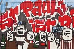 Graffiti in St pauli. Graffit depicting St pauli FC in Hamburg Germany Stock Image