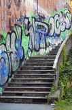 Graffiti Stair Stock Photography