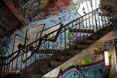 Graffiti stairs Royalty Free Stock Image