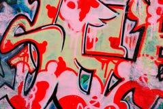 Graffiti - stedelijk art. Royalty-vrije Stock Foto's