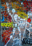 Graffiti Art Stick Figure. Paris alleyway walls are covered in graffiti. Vandalism and yet charming in an obscure way royalty free stock photography