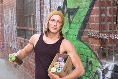 Graffiti-Straße Art Culture Spray Abstract Concept lizenzfreies stockbild