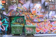 Graffiti-Straßenkunst Stockbild
