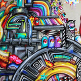 Graffiti - Straßenkunst Stockfoto