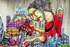 Graffiti - Straatart. Stock Fotografie
