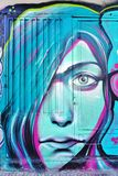 Graffiti street art by Achilles in Athens, Greece Royalty Free Stock Image