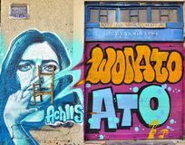 Graffiti street art by Achilles in Athens, Greece Stock Image