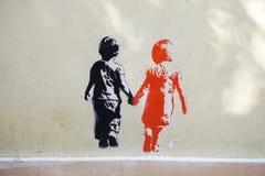 Graffiti street art in Athens, Greece Stock Photo