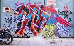 Graffiti street art in Athens, Greece Stock Image
