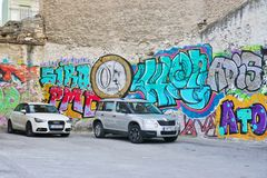 Graffiti street art in Athens, Greece Royalty Free Stock Images