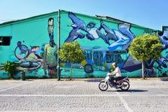 Graffiti street art in Athens, Greece Royalty Free Stock Photo