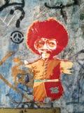 Graffiti street art on berlin wall Royalty Free Stock Images