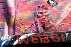 Graffiti Street art Stock Images