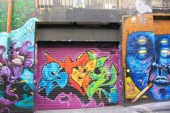 Graffiti Street art Melbourne Stock Photos