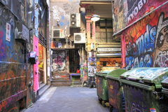 Graffiti street art Melbourne Stock Photo