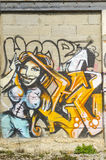 Graffiti, street art in france Royalty Free Stock Images
