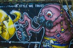 Graffiti, street art Stock Images