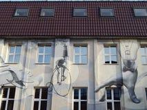 Graffiti. Street art. Modern art centre Flacon design-zavod, Moscow. Modern graffiti. Street art. Modern art centre Flacon design-zavod, Moscow. May, 2014 stock images