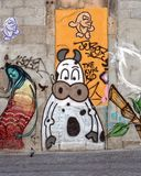 Graffiti or Street Art, Porto, Portugal. royalty free stock photography