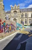 Graffiti street art in Rennes, the capital of Brittany in France Royalty Free Stock Image