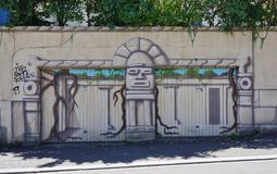 Graffiti street art in Rennes, the capital of Brittany in France Stock Images