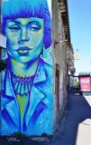 Graffiti street art in Rennes, the capital of Brittany in France Stock Photos