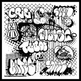 Graffiti street art vector Royalty Free Stock Images