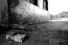 Graffiti street art. Street art on a wall in Johannesburg suburb Stock Images