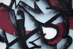Graffiti street. Nice brushes strokes in graffiti with colors red, blue and black Royalty Free Stock Photos