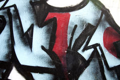 Graffiti street. Nice brushes strokes in graffiti with colors red, blue and black Royalty Free Stock Image