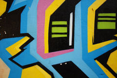 Graffiti street 3. Nice lines in graffiti with colors pink, blue, yellow and black Royalty Free Stock Images