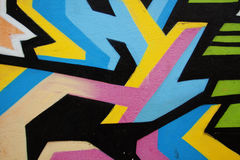 Graffiti street. Nice lines in graffiti with colors pink, blue, yellow and black Royalty Free Stock Images