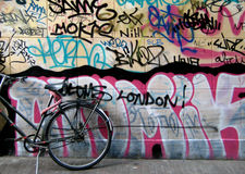Graffiti on the street wall Stock Image