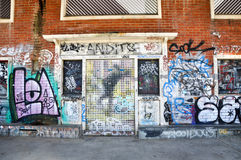 Graffiti in the Streets of Fremantle royalty free stock image