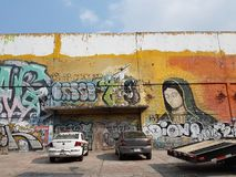 graffiti on the streets of mexico city stock image