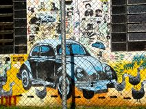 Graffiti on the streets of Porto Alegre, Brazil Royalty Free Stock Images