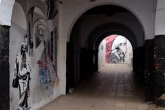 Graffiti on the streets of Rabat, Morocco royalty free stock photos