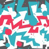 Graffiti stripes with blob effect Royalty Free Stock Images