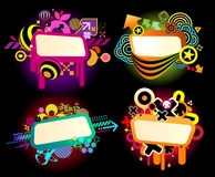 Graffiti style banners Stock Photos