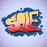 Graffiti style, sale inscription, urban art. Stock Images