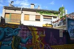 Graffiti su mitologia indiana Fotografie Stock