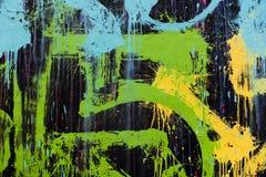 Graffiti su una parete Fotografie Stock