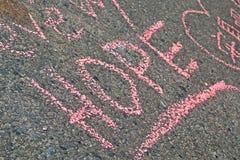 Graffiti sulla messa a punto commemorativa sulla via di Boylston a Boston, U.S.A., Fotografia Stock
