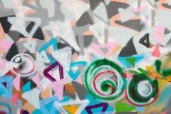 Graffiti sulla parete Immagini Stock