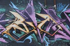 Graffit della città Fotografie Stock